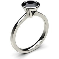 Black Diamond Engagement Ring inWhite Gold with 0.50ct Diamond