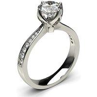 Side Stone Engagement Ring inWhite Gold with 0.20ct Diamond H I1