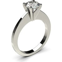 Solitaire Engagement Ring inWhite Gold with 0.20ct Diamond H I1