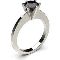 Black Diamond Engagement Ring inWhite Gold with 0.50ct Diamond
