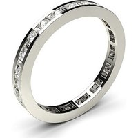 Diamond Full Eternity Ring White Gold H-I SI
