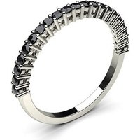 Black Diamond Diamond Ring White Gold 0.30ct