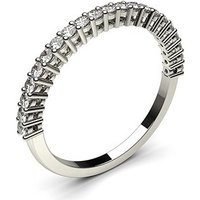 Diamond Half Eternity RingWhite Gold 0.30ct H-I I1