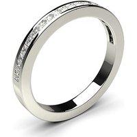 Channel Setting Half Eternity Diamond Ring