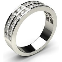 Diamond Half Eternity RingWhite Gold 0.75ct H-I I1