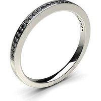 Black Diamond Diamond Ring White Gold 0.10ct