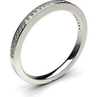 Diamond Half Eternity Ring White Gold 0.10ct H-I I1