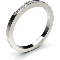 Diamond Half Eternity Ring White Gold 0.05ct H-I I1