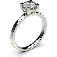 Solitaire Engagement Ring inWhite Gold with 0.40ct Diamond H I1