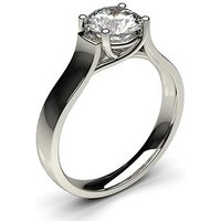 Solitaire Engagement Ring in White Gold with 0.40ct Diamond H I1