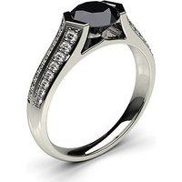 Black Diamond Engagement Ring inWhite Gold with 1.00ct Diamond