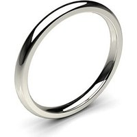 Plain Wedding Ring White Gold in 1.7mm