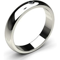 Studded LowDome Standard Fit Black Diamond Wedding Band