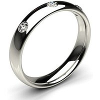 Diamond Wedding Ring White Gold in 1.7mm