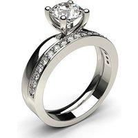 Bridal Set Engagement Ring inWhite Gold with 0.90ct Diamond H I1