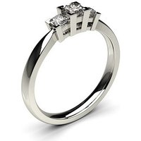 Trilogy Engagement Ring in White Gold with 0.30ct Diamond H-I I1