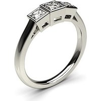 TrilogyEngagement Ring inWhite Gold with 0.30ct Diamond F-G I1
