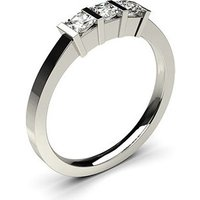 Trilogy Engagement Ring in White Gold with 0.30ct Diamond F-G I1