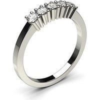 Five Stone Diamond Ring White Gold 0.30ct H-I I1