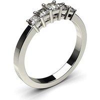 Five Stone Diamond RingWhite Gold 0.50ct H-I I1