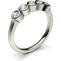 Five Stone Diamond RingWhite Gold 0.30ct H-I I1