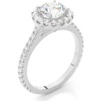 Halo Engagement Ring in White Gold with 0.30ct Diamond G SI1