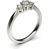 TrilogyEngagement Ring inWhite Gold with 0.30ct Diamond H-I I1