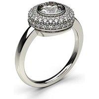 HaloEngagement Ring inWhite Gold with 0.50ct Diamond H I1