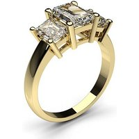 Trilogy Engagement Ring in White Gold with 2.00ct Diamond D-E VVS