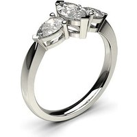 Trilogy Engagement Ring in White Gold with 1.00ct Diamond F-G SI