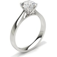 White Gold Round Diamond Engagement Ring