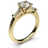 Trilogy Engagement Ring in White Gold with 1.50ct Diamond D-E VVS