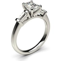 TrilogyEngagement Ring inWhite Gold with 0.40ct Diamond H-I SI