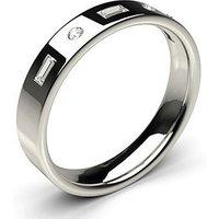 Diamond Wedding Ring White Gold in 1.8mm