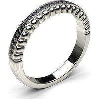 0.10ct. Pave Setting Half Eternity Black Diamond Ring