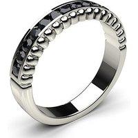 Black Diamond Diamond Ring White Gold 0.35ct