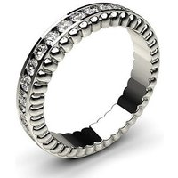 4.40mm Channel Setting Full Eternity Diamond Ring