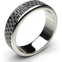 Black Diamond Diamond Ring White Gold