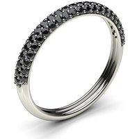 Black Diamond Diamond Ring White Gold 0.40ct