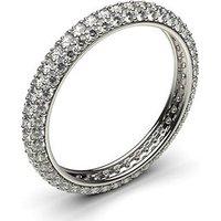 Diamond Full Eternity Ring White Gold H-I I1