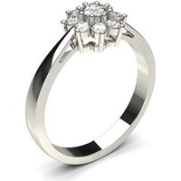 Cluster Diamond Ring White Gold 0.40ct H-I I1