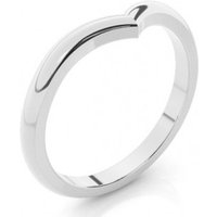 Shaped Wedding Ring White Gold in 1.5mm