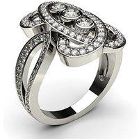 Fashion Diamond Ring White Gold 0.10ct H-I I1