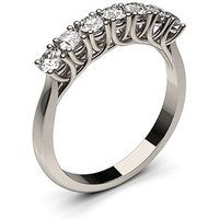 Seven Stone Diamond Ring White Gold 0.50ct H-I I1