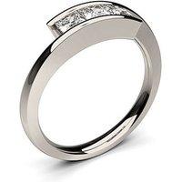 TrilogyEngagement Ring inWhite Gold with 0.50ct Diamond H-I I1