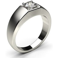 Mens Engagement Ring in White Gold with 0.60ct Diamond H-I I1