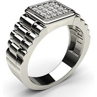 Mens Engagement Ring in White Gold with Diamond H-I I1