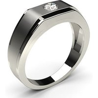 Mens Engagement Ring in White Gold with 0.20ct Diamond H-I I1