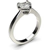 Solitaire Engagement Ring in White Gold with 0.20ct Diamond H SI1