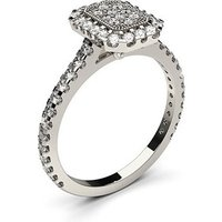 Cluster Diamond Ring White Gold 0.55ct H-I I1